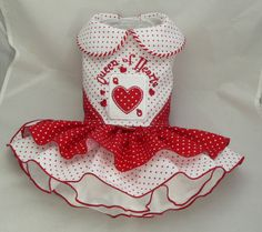 Small dog harness dress. Tutu skirt. Queen of Hearts by poshdog, $69.00