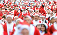 Santa dash world record attempted - Telegraph