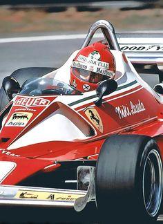 Buena foto!! Niki Lauda Ferrari