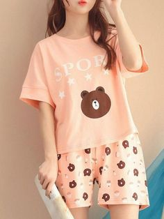 Cute Pajama Sets, Cute Pjs, Cute Pajamas, Pajamas Women, Girls Pajamas, Girls Fashion Clothes, Teen Fashion Outfits, Girl Outfits, Mode Lolita