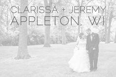 Clarissa + Jeremy said I Do :: Appleton WI Wedding - Alison Kundratic Photography