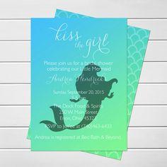Printable mermaid bridal shower invitation under the sea bridal mermaid bridal shower invitation 100 filmwisefo Images