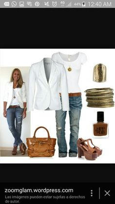 Not these shoes. But love a blazer and simple white shirt. I need more solid white, black, brown and grey shirts.