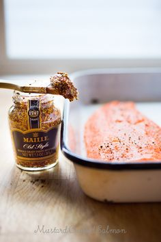 Mustard Crusted Salmon...the EASIEST,  tastiest salmon you will ever make! GF