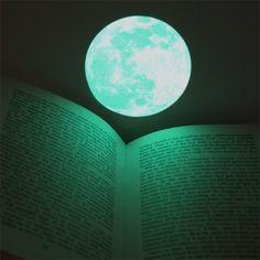 Moonlight Sticker - Small (Glow-in-the-dark sticker) by i3 Lab. [i-cubed-lab] design studio