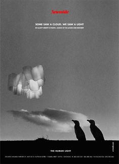 """""""Some saw a cloud. We saw a light"""". #TheHumanLight by Artemide, ADV campaign 2002 Photo by Elliott Erwitt Agency with #Logico luminaires. #design  Gerhard Reichert & Michele De Lucchi"""
