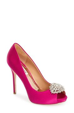 hot pink pump by badgley mischka