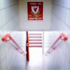 This is Anfield...Jude had this poster in Across the Universe..