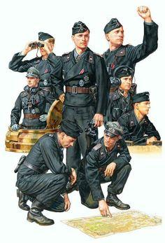A depiction of German tank crewmen