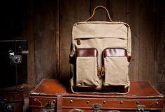 Dawanda - bagboy 79 Euro  Rucksäcke - *urban style* Rucksack Canvas Leder unisex camel - ein Designerstück von bagboy bei DaWanda