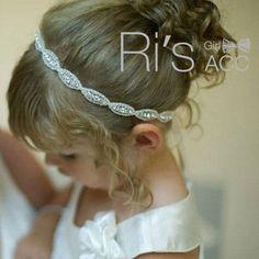 Retail Rhinestone Baby Headband,christening headband photo prop rhinestone tie back headband