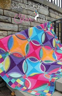 Polka Dot Bikini quilt - fabricsandflowers.blogspot.com by ColorGirlQuilts, via Flickr