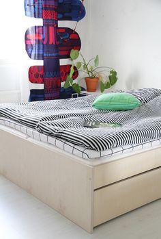 Marimekko, Living Etc, Bath Art, Home Bedroom, Bedroom Ideas, Bedrooms, Girl Room, My Dream Home, Interior Inspiration