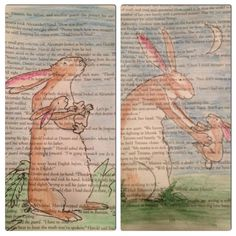 """book pages art- """"Guess How Much I Love You"""" bunnies :) we have this book <3"""