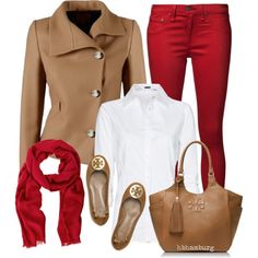 """No. 373 - Red pants"" by hbhamburg on Polyvore"