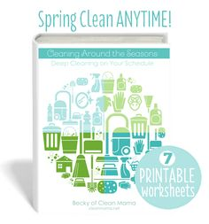 CLEANING AROUND THE SEASONS Cover and printables