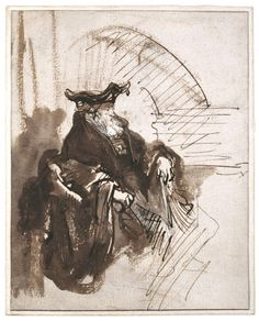 Rembrandt-Seated-Old-Man-late-1630