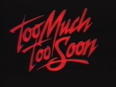 Too Much⚡️Too Soon✌----> onemorechanceboutique.tumblr.com @OMCBoutique