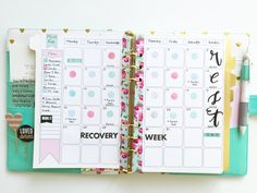 Marion Smith Designs: Fitness and Food Tracking in My Planner