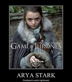If you have read the books you will know ARYA fights to go home, what a character
