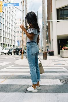 Bodysuit: TOPSHOP Jeans: AYR (SIMILAR HERE) Sneakers: ISABEL MARANT  Bag: CHLOE  Photography by: ERIN LEYDON  Lately, I've noticed that I receive a lot of great feedback on Instagram when I wear more