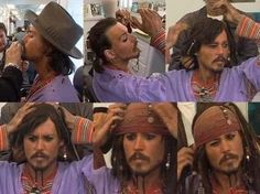 Johnny Depp as Captain Jack Sparrow / Pirates of the Caribbean The Pirates, Pirates Of The Caribbean, John Deep, Images Disney, I Love Cinema, The Lone Ranger, Pirate Life, Disney And Dreamworks, Good Movies