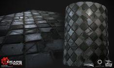 ArtStation - Checkered floor tileable texture, Ayi Sanchez
