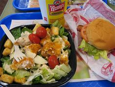Wendys menu with prices for 2016, Click here for the Wendy's menu with prices Fast Food Salads, Fast Healthy Meals, Easy Meals, Easy Recipes, Pecan Chicken Salads, Avocado Chicken Salad, Chicken Salad Recipes, Roasted Chicken Breast, Mediterranean Chicken