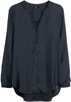 H&M Satin Blouse - Dark gray - Ladies on shopstyle.com