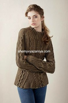 Вязание. Красивый рельефный пуловер. Обсуждение на LiveInternet - Российский Сервис Онлайн-Дневников