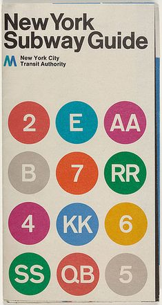 Massimo Vignelli, Subway diagram cover, 1970. by Eye magazine, via Flickr