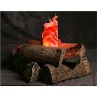 """fake camp fire.  Would be super cool idea for a """"camping"""" lesson with the kiddos for a day!"""