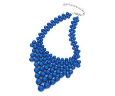 Blue bead statement necklace from lyliarose.com online fashion accessories store!