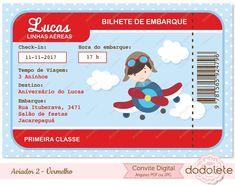 Convite Digital Aviador 2 - Vermelho