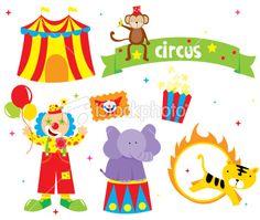 cute circus Royalty Free Stock Vector Art Illustration