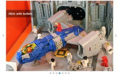 Visit the Berlin Lego Store and convince yourself! For the LUG showcase I built a NCS hangar and reworked the LL Explorer. Background has been changed to blue.