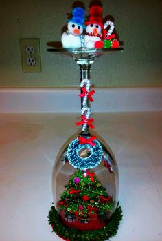 +OOAK+DiY+Christmas+3+D+Home+glass+Dome+Decoration.++#Handmade+#Traditional