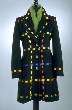 Tod Oldham Coat Fall 1996: UNT Digital Library Black Felt, Black Wool, 90s Fashion, Vintage Fashion, Fran Fine, Orange Band, Metal Buttons, Grosgrain Ribbon, Silver Color