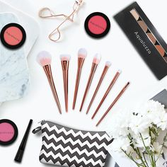 """Grab our fabulous collection on Aqualuzza.com  #blush #eyeshadow #makeup #brushes #beautiful #makeuptool 30% off your purchase using code """"VALENTINE"""""""