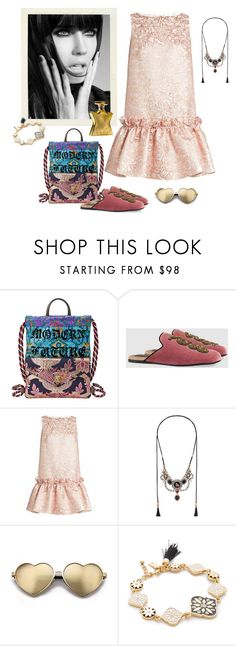 """Posh Boho"" by juliabachmann ❤ liked on Polyvore featuring Gucci, Osman, Wildfox, ANNA, Kate Spade and Bond No. 9"