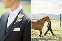 stylish groom and a horse...yes please! | CHECK OUT MORE IDEAS AT WEDDINGPINS.NET | #weddings #weddinginspiration #inspirational
