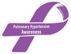 Custom Ribbon: Pulmonary Hypertension / Awareness