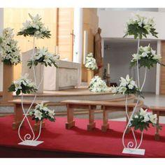 Arreglos florales para iglesia en soporte de forja www.donagro.es