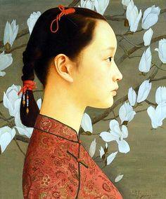 Portrait, Hong Kong, 2000, by Wang Yidong.
