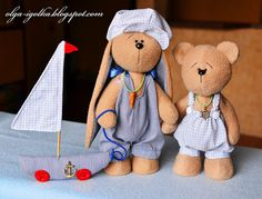 The Needle Nook_The Bunny, the Teddy Bear and the Ship. By Olga-igolka