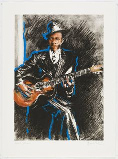 Robert Johnson - 2007 - The Ronnie Wood Collection - Art - Castle Galleries Robert Johnson, Ronnie Wood, Rolling Stones, New Art, Special Events, Castle, Batman, Gallery, Painting