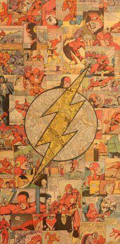 Flash Logo Comic Collage by Mike Alcantara The Flash, Flash Art, Supergirl, Comic Books Art, Comic Art, Flash Comic Book, Comic Book Crafts, Comic Collage, Collage Art