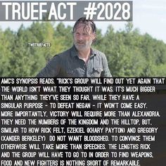 "AMC Synopsis! #TWD #TheWalkingDead #WalkingDead also, just wanted to say Happy Birthday to my dude @TheWalkingDeadAllDay ! We've been IG friends way before this account , even before I even made ""TWDTrueFacts"" we go waaaay back, we always had eachother's back and he's honestly like a brother to me, wish him a happy birthday!"