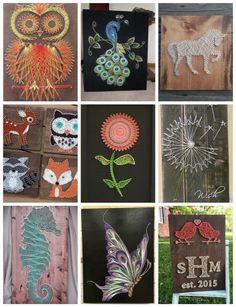 Fonalgrafika - varázslatos alkotások - Színes Ötletek Magic Words, String Art, Techno, Blog, Crafts, Craft Ideas, Diy Crafts, Draw, Basteln