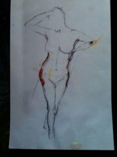 Figure sketch by Zoe Bailey ...degree 90s
